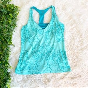 The North Face Turquoise Floral Tank